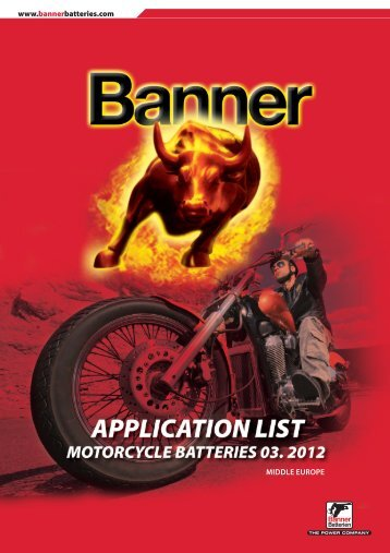 www.bannerbatteries.com MIDDLE EUROPE