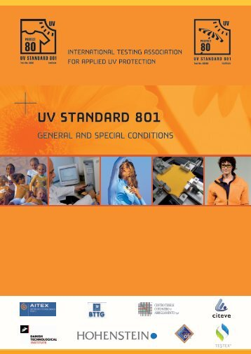 General and Special Conditions UV Standard 801 - Hohenstein  ...