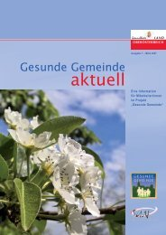 aktuell - Netzwerk Gesunde Gemeinde - Land Oberösterreich