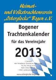 Trachtenkalender 2013 - Osterglocke Bogen