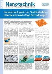 Nanotechnologie in der Textilindustrie  - Hohenstein Institute