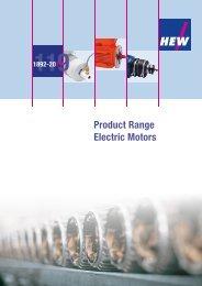 Product Range Electric Motors - hew-hf.de