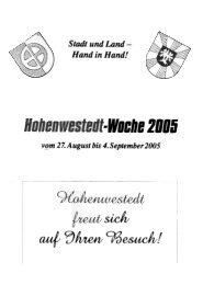 '.Woche 2BO6 - Gemeinde Hohenwestedt