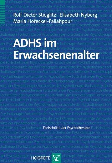 ADHS im Erwachsenenalter - Hogrefe
