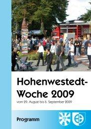 Programm Hohenwestedt-Woche 2009 - Gemeinde Hohenwestedt