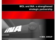 MOL and INA: a strengthened strategic partnership
