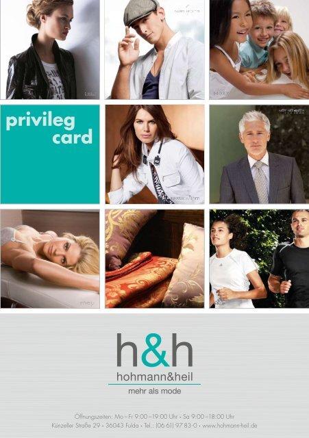 privileg card - Hohmann und Heil