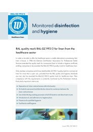 Monitored disinfection and hygiene - Hohenstein Institute