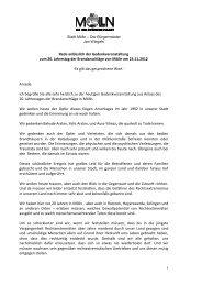 Rede von Herrn Bürgermeister Jan Wiegels - Stadt Mölln