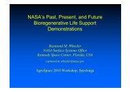 NASA's Past, Present, and Future Bioregenerative Life Support ...