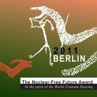 Preisbroschüre 2011 - The Nuclear-Free Future Award
