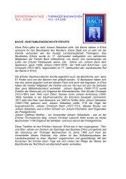 Erfurter Bach-Tage / Thüringer Bach-Wochen ... - Bach Cantatas