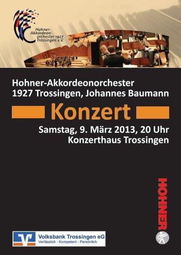 Jahreskonzert - Hohner-Akkordeonorchester 1927 Trossingen e.V.