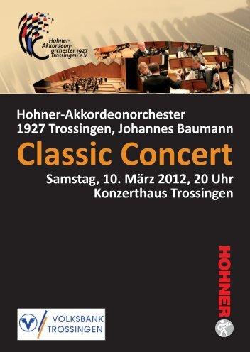 Classic Concert -  Hohner-Akkordeonorchester 1927 Trossingen e.V.