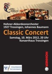 Classic Concert Samstag, 10. März 2012, 20 Uhr Konzerthaus ...