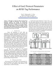 Effect of Gen2 Protocol Parameters on RFID Tag Performance