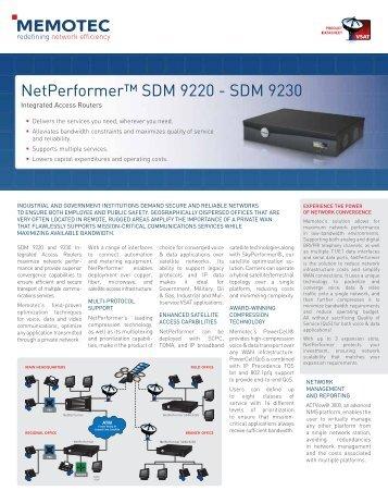 NetPerformer™ SDM 9220 - SDM 9230
