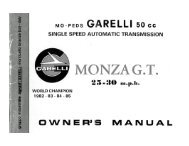 MONZA G.T. - Project Moped Manual
