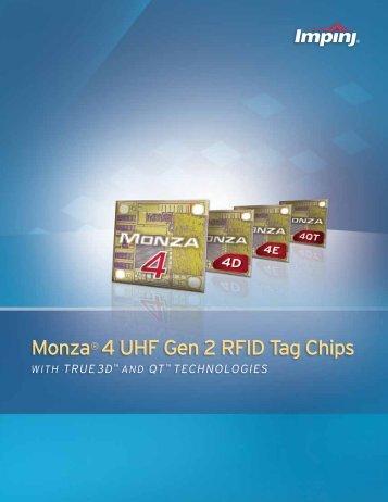 Monza® 4 UHF Gen 2 RFID Tag Chips - Impinj