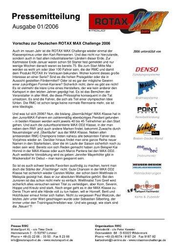 Pressemitteilung 01/2006 - KSP Kartcenter