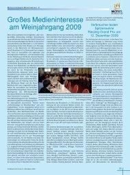 Mitgliederinfo Moselwein e.V. Dezember 2009