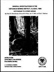 ketchikan to hyder areas - Bureau of Land Management