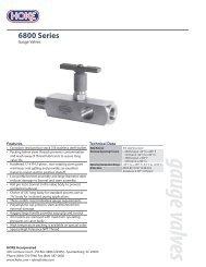 gauge valves 6800 Series