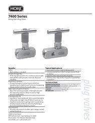 plug valves 7400 Series