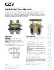 Rotofold Ball Valve Manifold