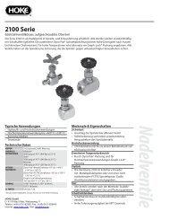 Serie 2100 - bei Hoke GmbH