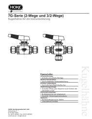 Serie 7G 2210 2-Wege Kugelhahn für die - bei Hoke GmbH