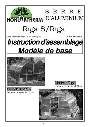 Riga S/Riga Instruction d'assemblage Modèle de base - Hoklartherm