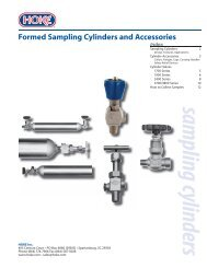Formed Sampling Cylinders  and Accessories