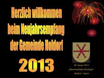 Neujahrsempfang 2012 -  Gemeinde Holdorf
