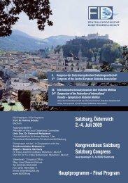 Salzburg, Österreich 2.-4. Juli 2009 Hauptprogramm - Final Program ...