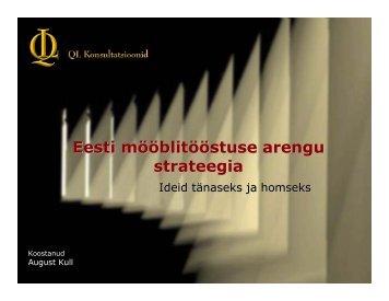 Eesti mööblitööstuse arengu strateegia