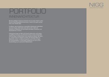 download portfolio innenarchitektur - Nigg Architektur GmbH