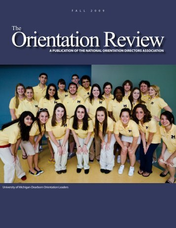 A PublicAtion of the nAtionAl orientAtion Directors ... - Buffalo State