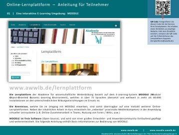 Bedienung der Lernplattform: Anleitung für Teilnehmer/-innen (PDF
