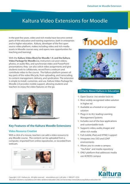 Kaltura Video Extension for Moodle Dec 2012