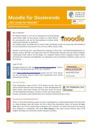 Moodle-fuer-Dozierende - E-Learning