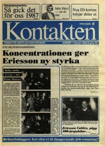 Koncentrationen ger Ericsson ny styrka - History of Ericsson - History ...