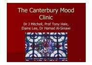 The Canterbury Mood Clinic presentation