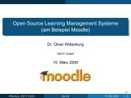 Open Source Learning Management Systeme (am Beispiel Moodle)