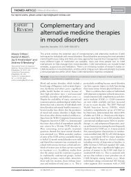 Complementary and alternative medicine therapies in mood disorders