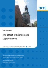The Effect of Exercise and Light on Mood - Helda
