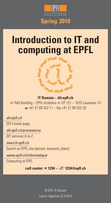 Introduction to IT and computing at EPFL - Flash informatique - EPFL