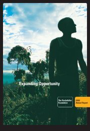 Annual Report - 2003 - The Rockefeller Foundation