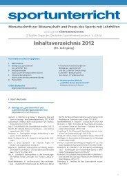 Inhaltsverzeichnis 2012 - Hofmann Verlag
