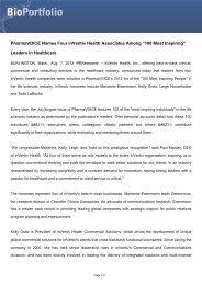 PharmaVOICE Names Four inVentiv Health Associates ... - BioPortfolio